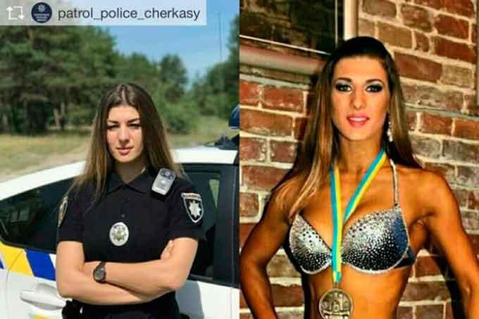 Старший лейтенант патрульної поліції Черкас Марія Лихолай, що є чемпіонкою України і майстром спорту з фітнесу, має чимало прихильників у мережі.