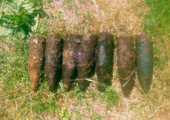 У Катеринопільському районі піротехніки знищили 8 снарядів часів війни