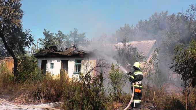 Впродовж вихідних на Шполянщині сталися дві пожежі (відео)