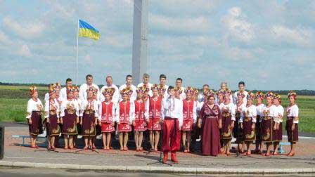 В географічному центрі України урочисто відзначили День державного прапора