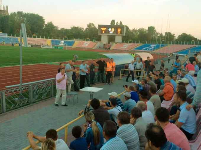 Президент «Черкаського Дніпра» знову зустрінеться з уболівальниками