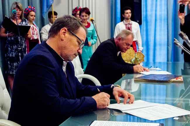 Міста Канів і Хелмно (Польща) підписали договір щодо співпраці у галузях освіти, культури і спорту