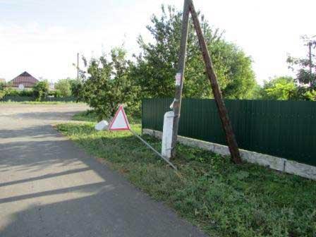 У Шполі ламають та викрадають дорожні знаки (фото)