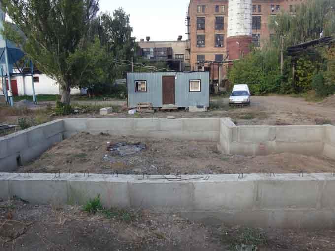 Фундамент для будівлі окремого харчоблоку
