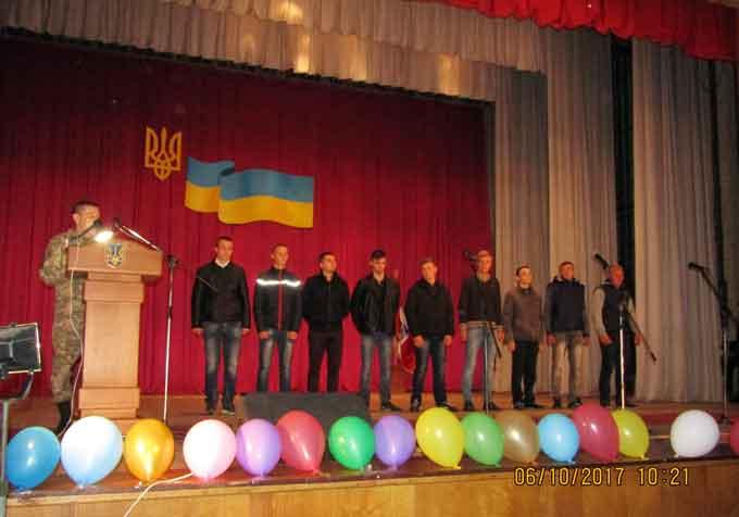 У Лисянці відбулись урочисті проводи призовників до лав Збройних Сил України