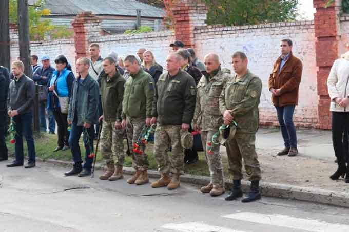 В Умані відкрили меморіальну дошку Герою України Андрію Кизилу