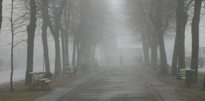 Черкаси накрив густий туман (відео)