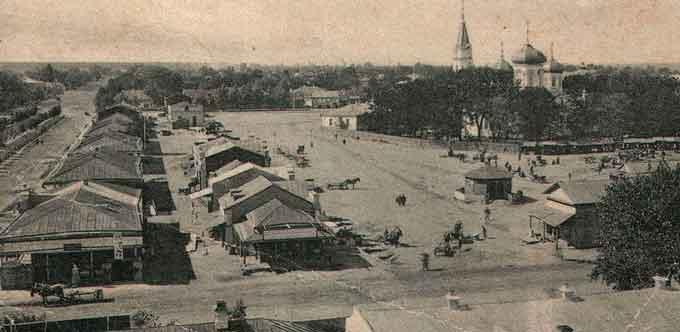 Соборна площа у Черкасах на початку XX століття