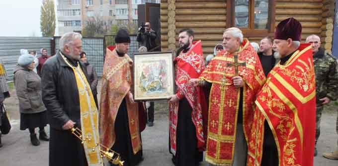 До Черкас привезли ікону та мощі Святого Георгія Переможц
