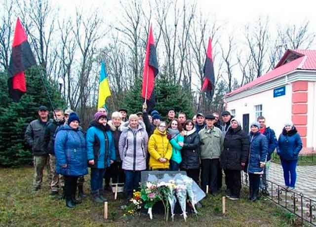 Відкриття пам'ятної дошки на місці загибелі Дмитра Олтаржевського