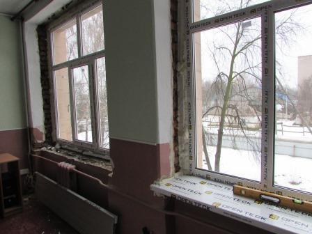 У школах Шполи розпочали заміну вікон (фото)