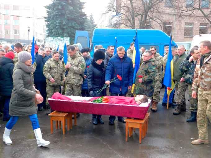 17 лютого відбулося поховання старшого матроса 36-ї бригади морської піхоти,учасника бойових дій на Сході України Артема Жовтобрюха.