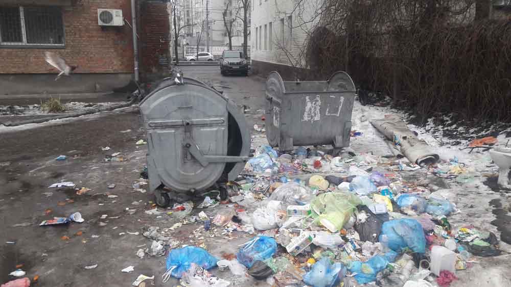 У Черкасах біля санстанції – купи сміття (фото)