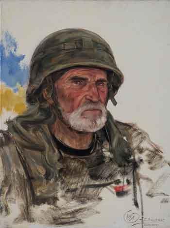 """У Черкасах відкрилася мистецька виставка """"Портрети добровольців на війні"""""""