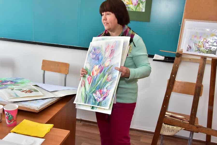 У ЧДТУ пройшов авторський майстер-клас із акварельного живопису