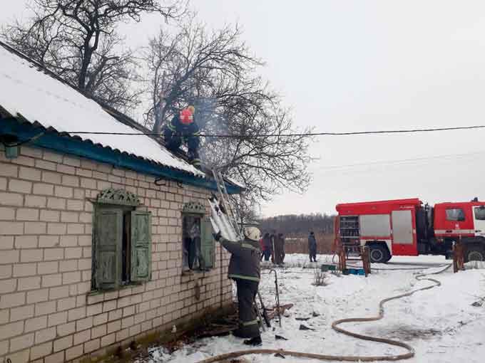 У Золотоніському районі під час пожежі в житловому будинку загинула жінка