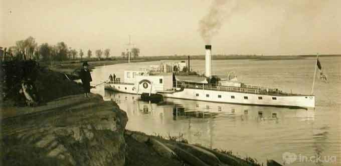 Прогулянковий пароплав на Дніпрі, старе фото