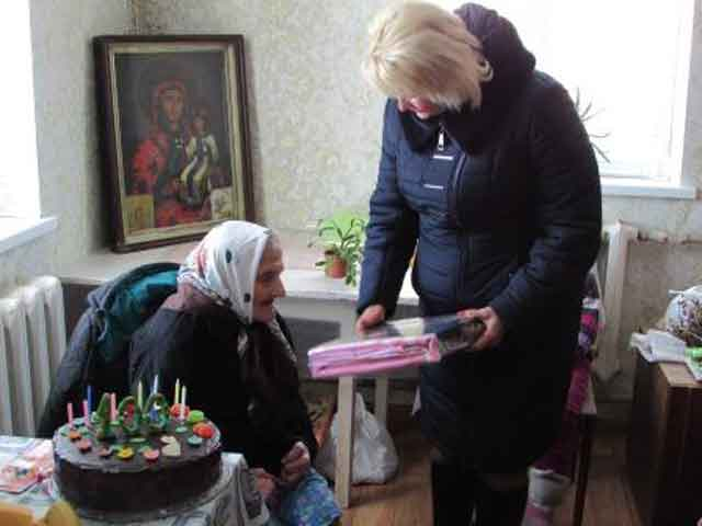 22 березня найстарша жителька Шполянської громади Дарія Балоха святкувала 100-річчя від дня народження