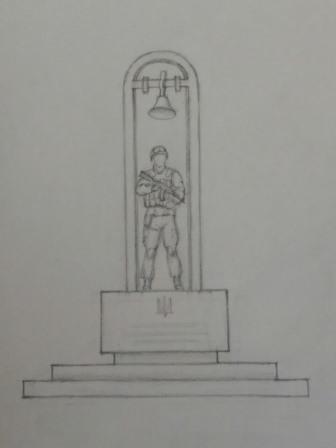 Скульптуру воїна виготовлятимуть із спеціального склопластику з металевим армуванням, арку вироблять з металу. Підніжжя монументу з армованої бетонної конструкції покритої гранітною плитою.