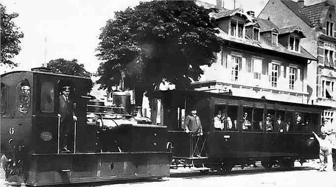 Паровий трамвай у Страсбурзі, Франція