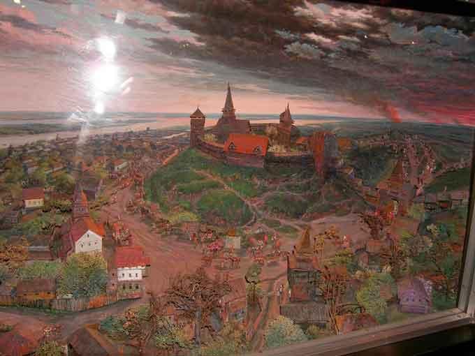 Черкаський замок (діорама в обласному краєзнавчому музеї)