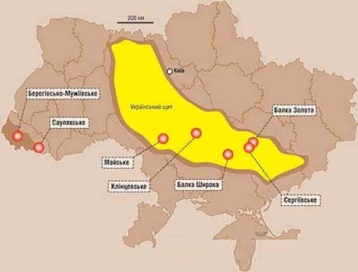 Золоті родовища на території України