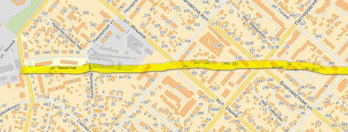 Ви помічали, як дивно – по діагоналі – стоять будинки вздовж вулиці Привокзальної (колишня вулиця Чекістів)?