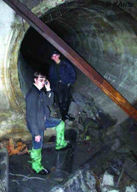 Першотравнева труба [6], внутрішній діаметр 3 м