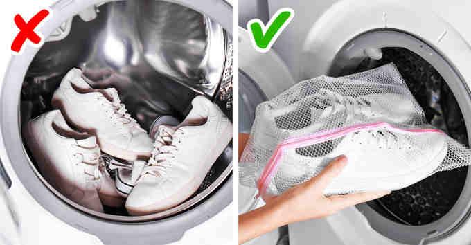 Как правильно стирать кроссовки?