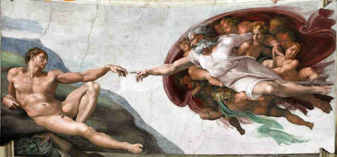 Фреска Мікеланджело на стелі Сікстинської капели