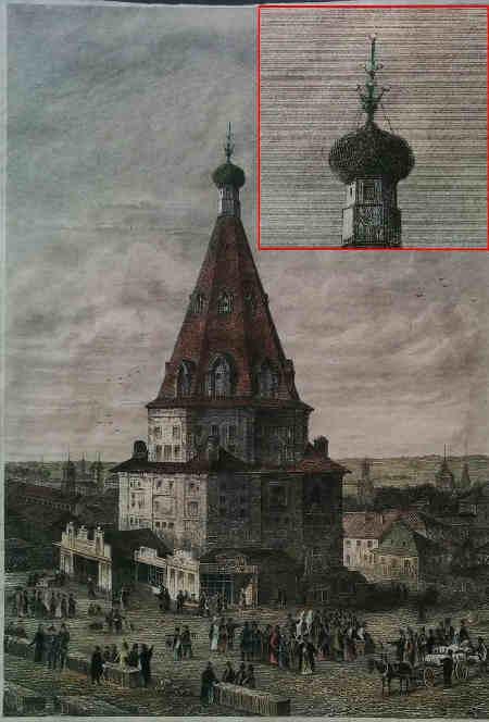 Церква Миколи Чудотворця, Казань, гравюра 1859 року