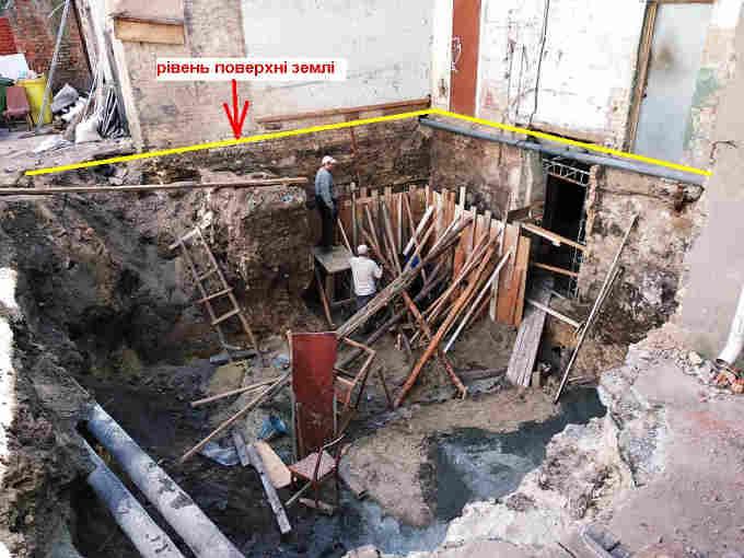 Цілком очевидно, що фундамент у будівлі все-таки є, але розташований він ще глибше під землею.