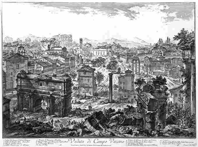 Замулений центр Риму на малюнку Джовані Піранезі