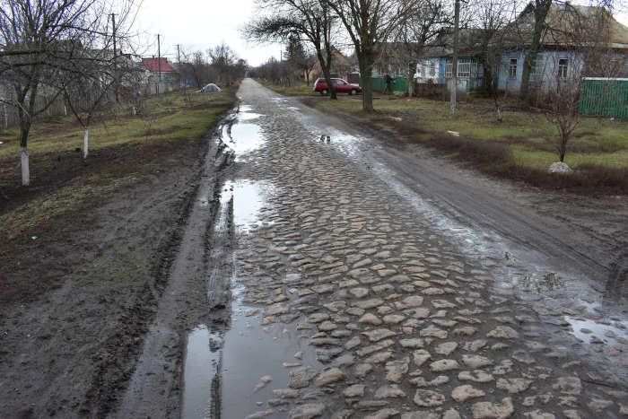 Дорога у Матусівській ОТГ, яку мали ремонтувати