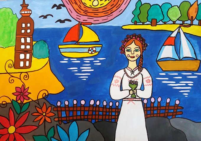 Єлизавета Деханова, вихованка ПНЗ «Багатопрофільний молодіжний центр» ЧМР, стала лауреатом VІІІ Міжнародного Інтернет-конкурсу рисунку «Марка дружби – 2020»