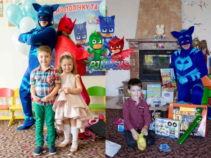 Для черкаських дітей створює свято родина зі Сходу країни