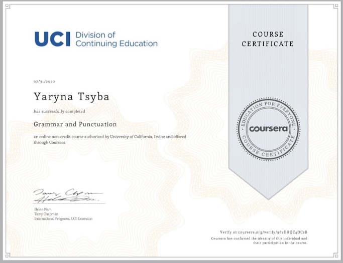 Естафету з Coursera прийняла Тальнівщина: безробітна здобула освіту англійською мовою