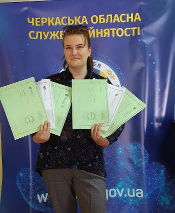 Китайська мова, магія та дизайн: шість міжнародних сертифікатів отримала безробітна з Чигирина