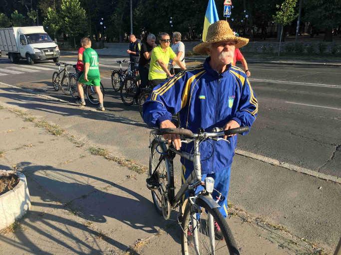 У Звенигородці відбувся велопробіг, присвячений річниці проголошення Незалежності України