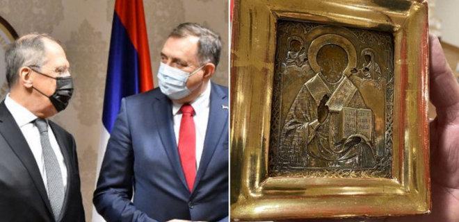 МКІП з'ясовує походження ікони, подарованої російському Міністру в Боснії та Герцеговині