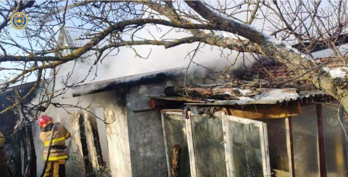 У Черкаському районі на пожежі в господарчій споруді загинула домашня птиця