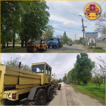 На вулицях Золотоноші тривають дорожні роботи