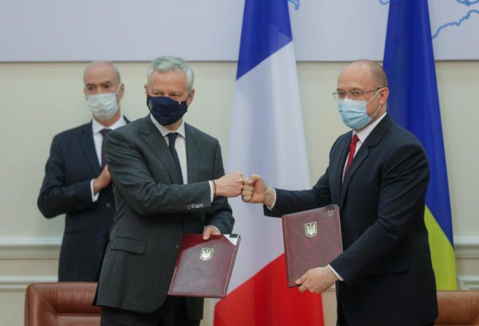 Україна та Франція уклали угоди на загальну суму понад 1,3 млрд євро