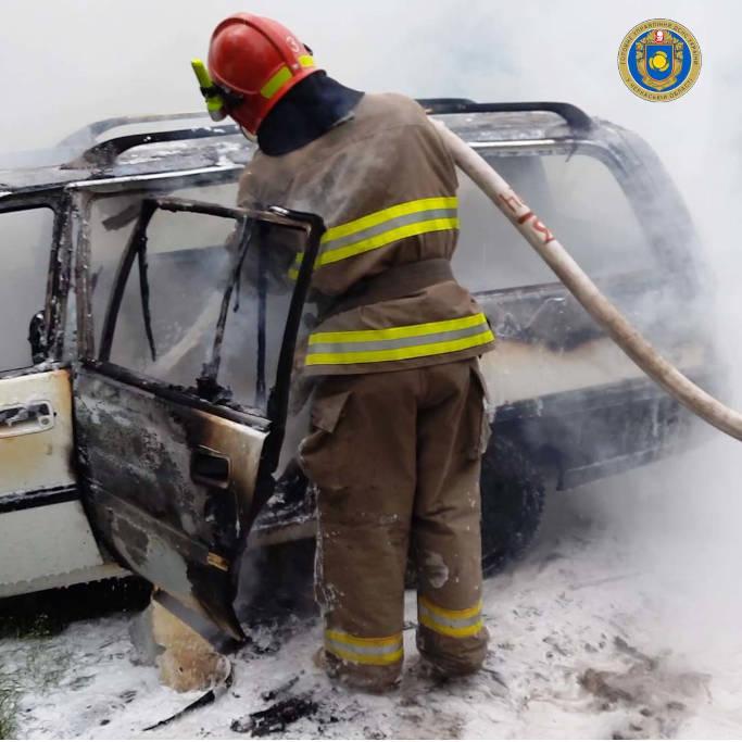 На Черкащині рятувальники за добу ліквідували дві пожежі на транспорті