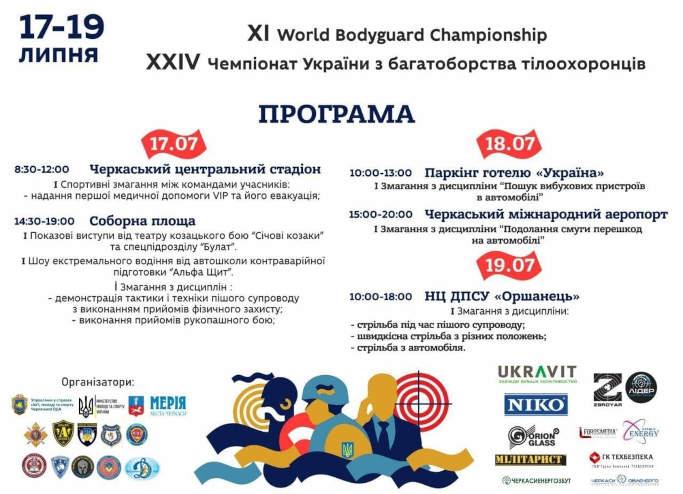 На Черкащині вдруге відбудуться Чемпіонати світу й України з багатоборства тілоохоронців
