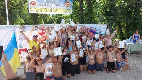 Відбувся Відкритий чемпіонат Сміли з пляжної боротьби