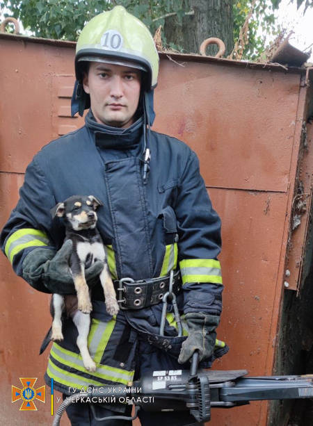 На Канівщині надзвичайники врятували собаку (фото)