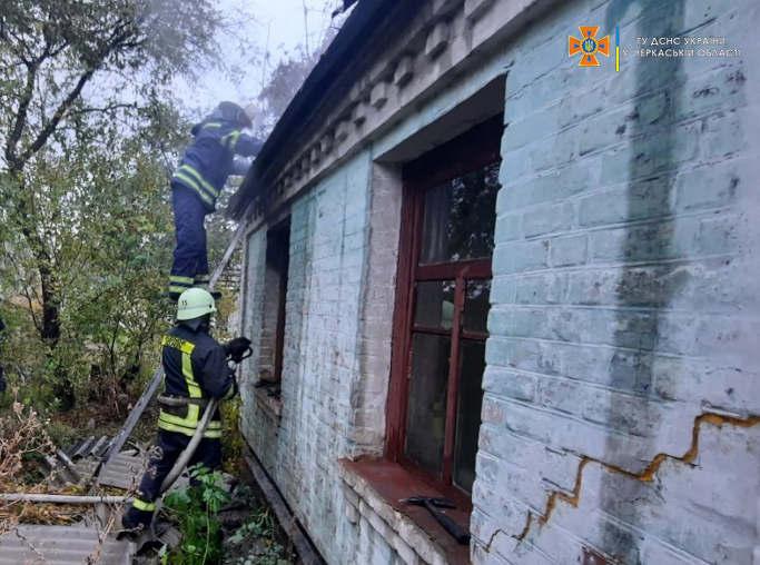 У Христинівці на пожежі загинула жінка (фото)