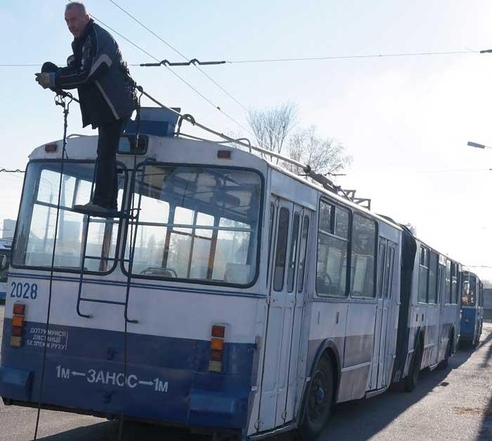 17 січня тролейбуси у Черкасах працюватимуть за скороченим графіком